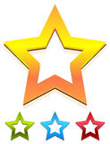 Star icon for rating, ranking, quality concepts. Royalty free vector illustration Royalty Free Stock Photo