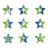 Star icon set. Logo template set Stock Image