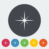 Star icon. Star. Single flat icon on the circle. Vector illustration Royalty Free Stock Photos