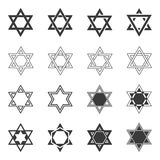 Star icon. Solomon Seal icons. Shield of David sign or Magen Royalty Free Stock Photo