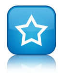 Star icon special cyan blue square button Stock Photos