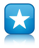 Star icon special cyan blue square button Stock Images