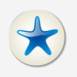 Star icon on white background Stock Photography