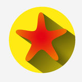 Star icon on white background Stock Images