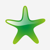 Star icon on white background Royalty Free Stock Photography