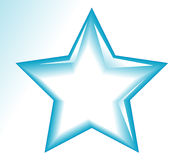 Star icons. Blue star icon with background Stock Photography