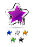 Star icons Royalty Free Stock Photos