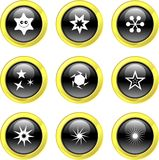 Star icons Royalty Free Stock Image
