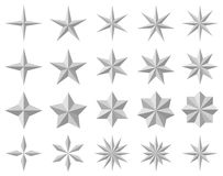 Star icons Stock Images