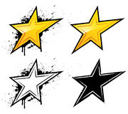 Star icons. A set of four stars designs royalty free illustration