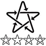 Star icons with arrows. Stock Image