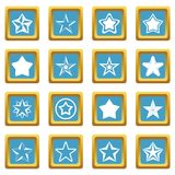 Star icons azure Stock Photography