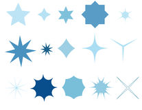 Star icons Stock Photos