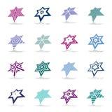 Star icons. Geometric design elements set. Vector art royalty free illustration