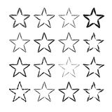 Star icons grunge set Stock Image