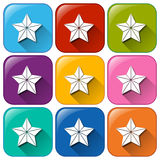Star icons Royalty Free Stock Photo