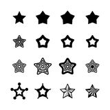 Star Vector Icons Isolated Royalty Free Stock Photos