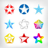 Star icons and logos collection Stock Image