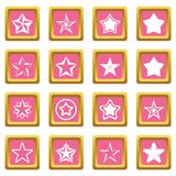 Star icons pink Royalty Free Stock Photography