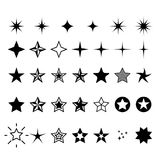 Star icons - rating, rank and decor stars Royalty Free Stock Photography