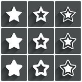 Star icons. Rating stars symbols. Feedback rating. Stock Image
