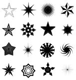 Star icons set Royalty Free Stock Photography