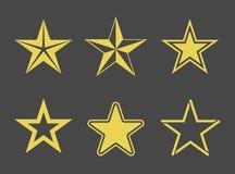 Star icons set Royalty Free Stock Photos