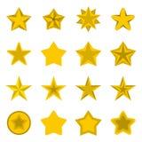 Star icons set, flat ctyle Royalty Free Stock Photos