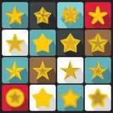 Star icons set, flat ctyle Royalty Free Stock Photo
