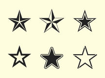 Star icons set Royalty Free Stock Images