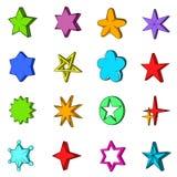 Star icons set, pop-art style Royalty Free Stock Photos