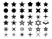 Star icons Stock Photography