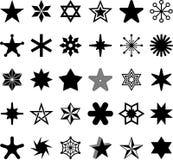Star icons Royalty Free Stock Photos