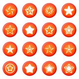 Star icons vector set Stock Image