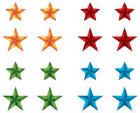 Star Icons for web design Royalty Free Stock Images