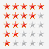 Star icons on white background Royalty Free Stock Photo