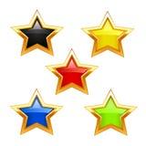 Star icons Stock Photos