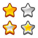 Star icons Royalty Free Stock Images