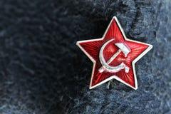 Star il distintivo dalla precedente Unione Sovietica Immagini Stock Libere da Diritti