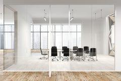 Star il modello della parete e la sala riunioni dell'ufficio di vetro Fotografia Stock Libera da Diritti
