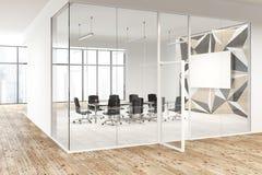 Star il modello della parete e la sala riunioni di vetro, manifesto Fotografia Stock