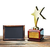 Star il premio con spazio per testo su bianco Fotografia Stock