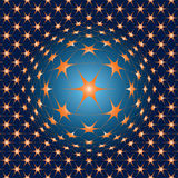 star illusion shapes Royalty Free Stock Images