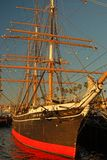 Star of India. The Star of India, an historic trrading ship, is moored along the San Diego waterfront Royalty Free Stock Photos