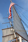 Star of India with Waving American Flag Royalty Free Stock Photography