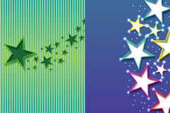 Star inside page effect blank Royalty Free Stock Image