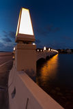 Star Island Bridge Lights Stock Photography