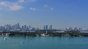 Star Island Miami Beach 4k stock video footage
