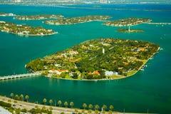 Star Island in Miami. Island in the ocean, Star Island, Miami, Miami-Dade County, Florida, USA stock image