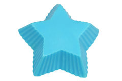 Star. Isolated object on a white background. Blue star. Piece of soap. Geometric figure Royalty Free Stock Photography